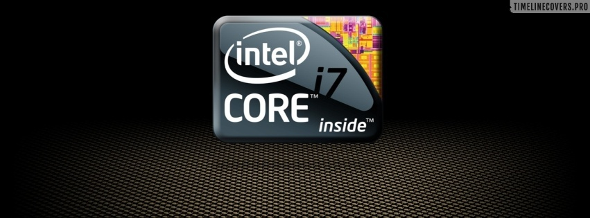 Intel Core I7 Logo Facebook cover photo