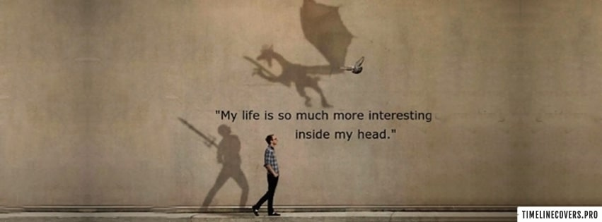 Interesting Inside My Head Facebook cover photo