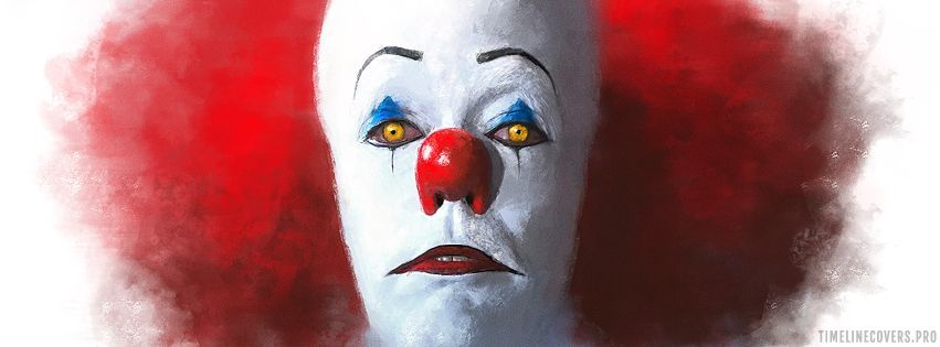 It 1990 Painting of Pennywise Facebook cover photo