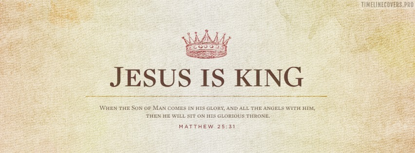 Jesus is King Christian Facebook cover photo