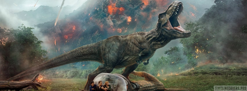 Jurassic World Fallen Kingdom Facebook cover photo