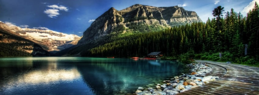 Lake Louise in Alberta Canada Facebook cover photo