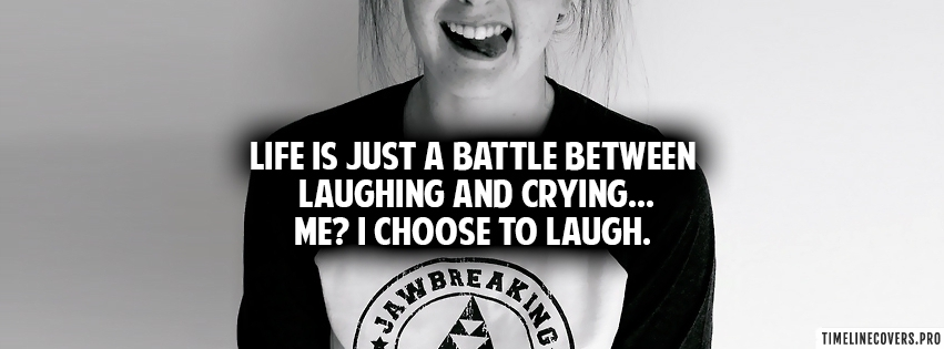 Laughing and Crying Facebook cover photo