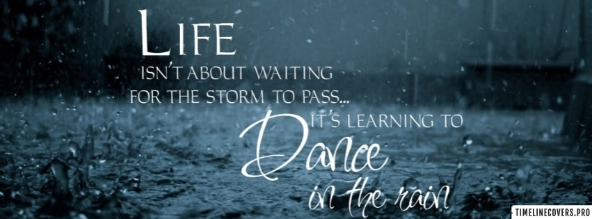 Learning to Dance in The Rain Facebook cover photo