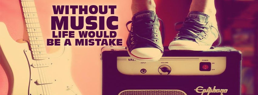 Life Without Music Facebook cover photo