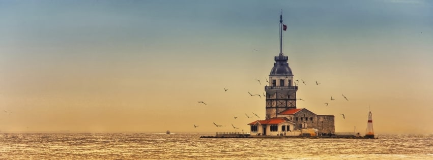Lighthouse at Istanbul Facebook cover photo