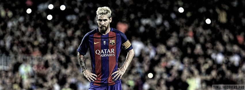 Lionel Messi Before Free Kick Facebook cover photo