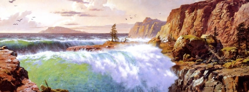 Lord of The Rings Painting Facebook cover photo