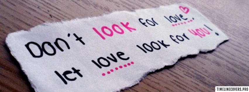 Love Quote Facebook cover photo