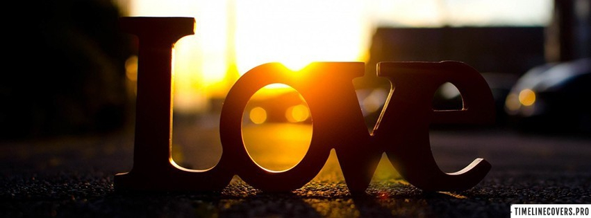Love Sunset Facebook cover photo