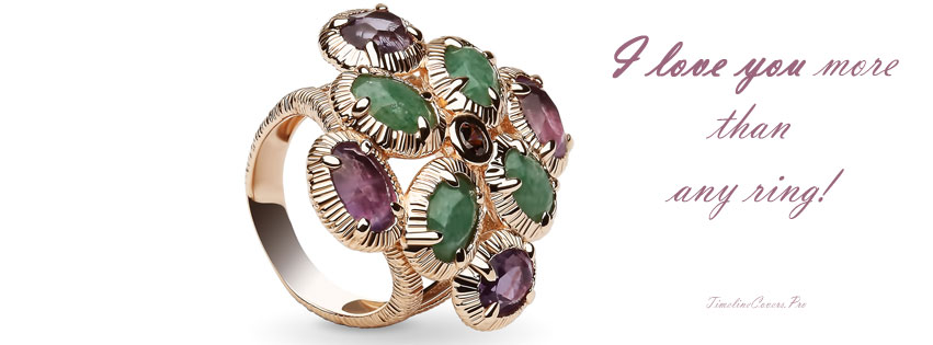 Love You More Than This Ring with Dark Amethyst and Green Aventurine Stone Facebook cover photo