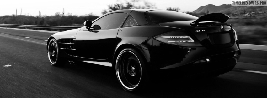 Mercedes Benz Car Black Facebook cover photo