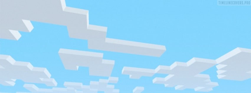 Minecraft Sky Clouds Facebook cover photo