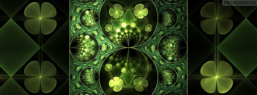 Mirrored St Patricks Day Facebook cover photo