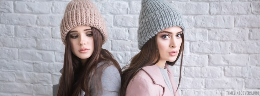 Models in Caps Facebook cover photo