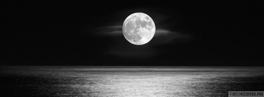 Moonlight Over The Ocean Facebook cover photo