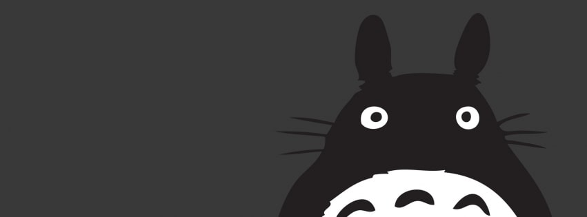 My Neighbor Totoro Facebook cover photo