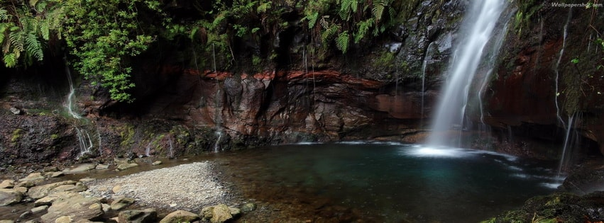 Natural Pool and Waterfall Facebook cover photo