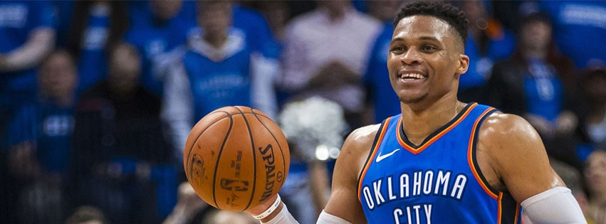 NBA Russell Westbrook Smiling Facebook cover photo