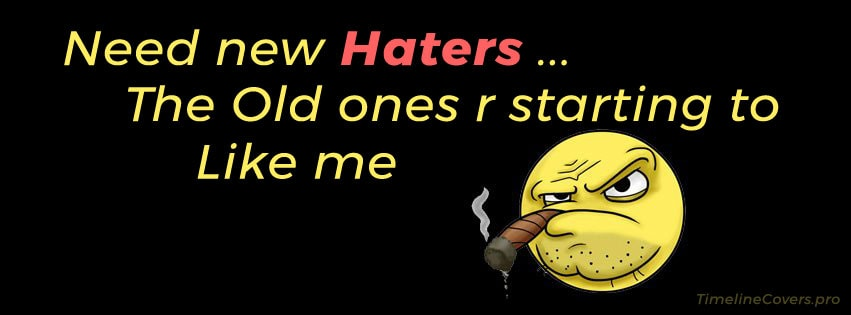 Need New Haters Facebook cover photo