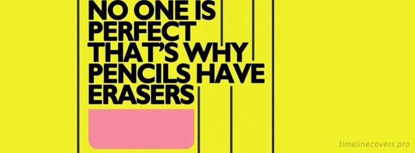 No One is Perfect Facebook cover photo