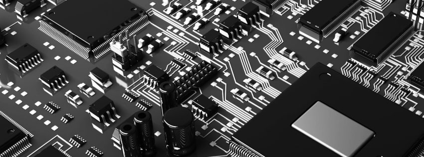 Old Computer Circuits Facebook cover photo