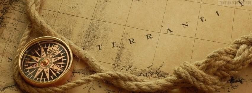 Old Style Map Facebook cover photo