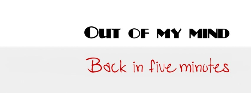 Out of My Mind Facebook cover photo