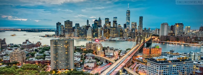 Panoramic View of New York City Facebook cover photo
