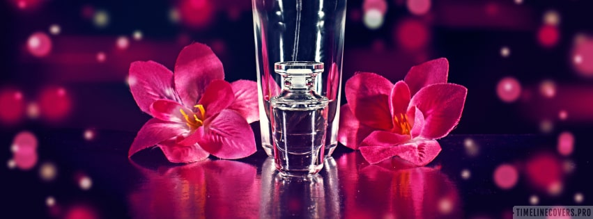 Perfume with Flowers Girly Facebook cover photo