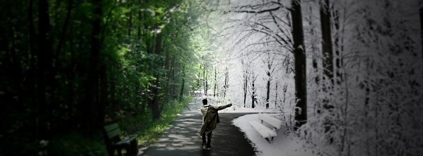 Photography Manipulation Spring Or Winter Facebook cover photo