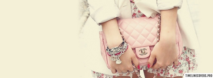 Pink Bag Fashion Girly Facebook cover photo