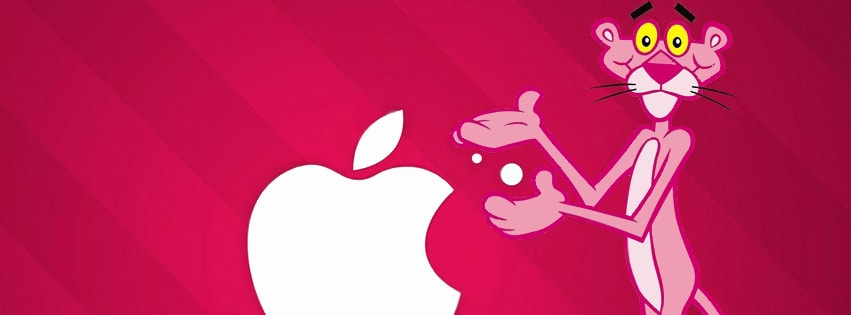 Pink Panther and Apple Free Facebook cover photo