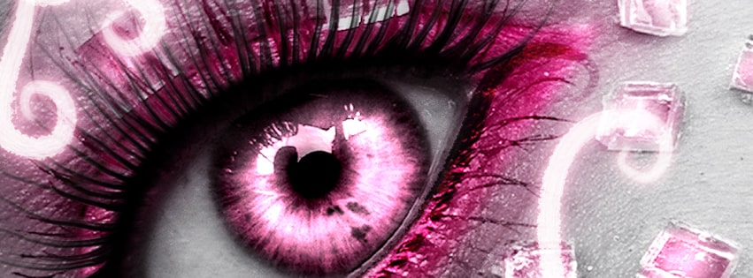 Pink Eye Girly Facebook cover photo