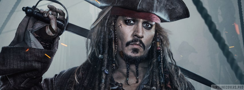 Pirates of The Caribbean Dead Men Tell No Tales Jack Sparrow Facebook cover photo