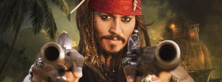 Pirates of The Caribbean on Stranger Tides Johnny Depp Facebook cover photo