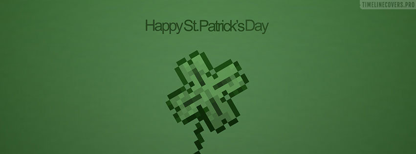 Pixelated St Patricks Day Facebook cover photo