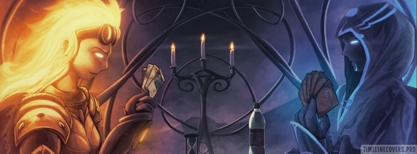 Playing Magic The Gathering Facebook cover photo