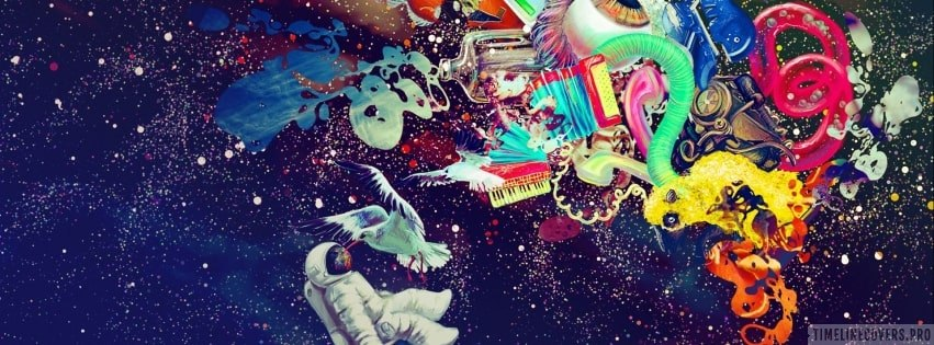 Psychedelic Artwork Facebook cover photo