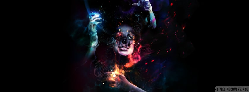Psychedelic Magic Facebook cover photo