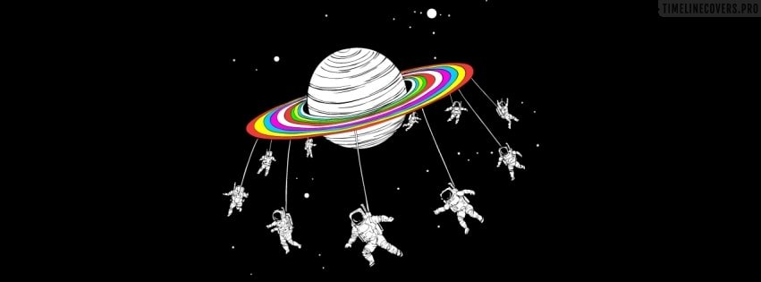 Psychedelic Saturn Facebook cover photo