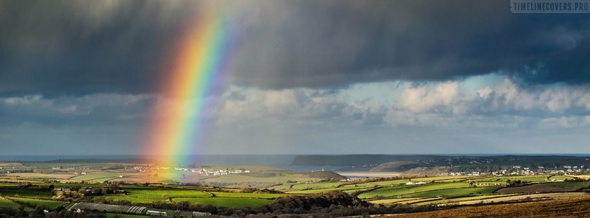 Rainbow in The Storm Facebook cover photo