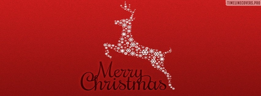 Red Deer Merry Christmas Facebook cover photo