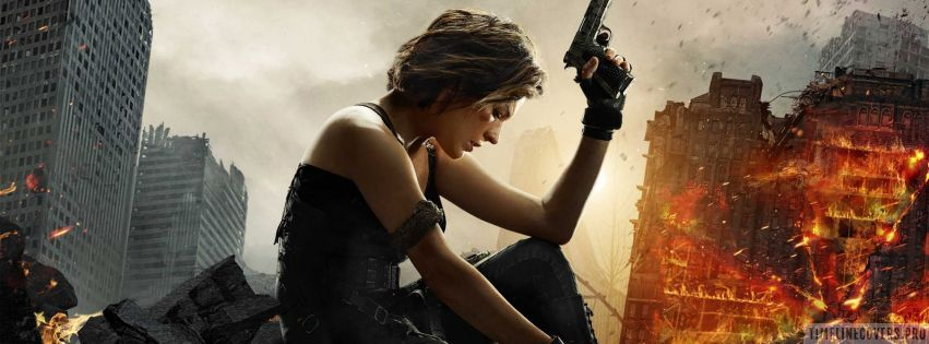 Resident Evil The Final Chapter Facebook cover photo