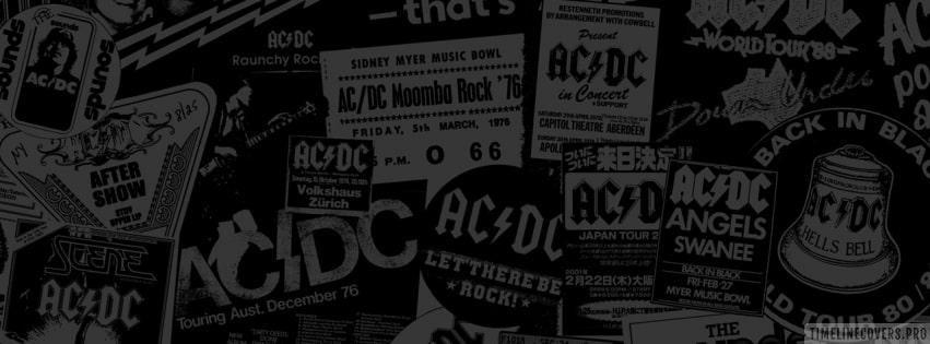 Retro AC-DC Background Facebook cover photo