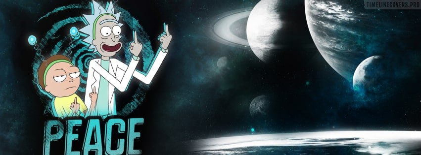 Rick and Morty Peace Among Worlds Facebook cover photo