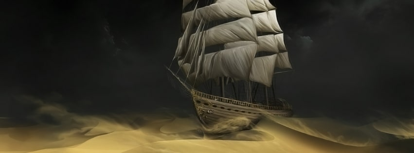 Sailing in Sand Facebook cover photo
