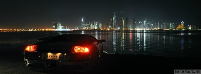 Sightseeing with a Lamborghini Facebook cover photo