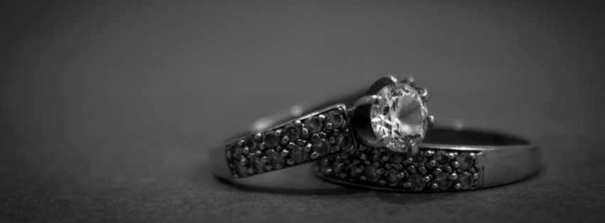Silver Rings with Diamonds Facebook cover photo