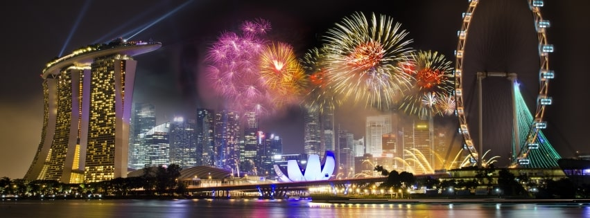 Singapore Fireworks Facebook cover photo